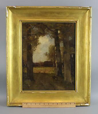 Antique THEOPHILE DE BOCK Dutch Tonalist Hague School Landscape Oil Painting, NR