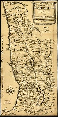 A4 Reprint of Israel Holy Land Map World