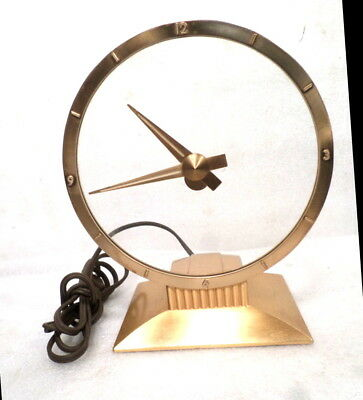 Vintage Jefferson Hour Mystery Hour Clock--Very Interesting Style Clock