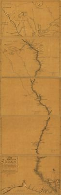 A4 Reprint of Map 1702 Sequence Showing Mississipi River Meanderings