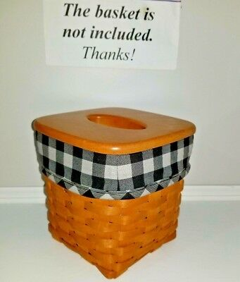 Black and Grey Buffalo Plaid liner for the Longaberger tall tissue basket.