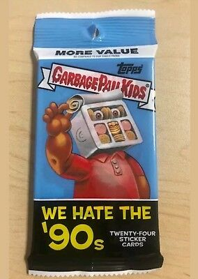 2019 Topps Garbage Pail Kids We Hate The '90s Plate/Sketch/Auto/Gold Hot Pack