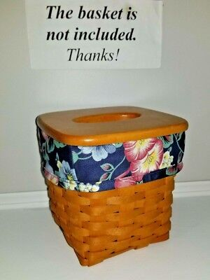 Tall Tissue Basket Liner from Longaberger Cottage Garden fabric. New!