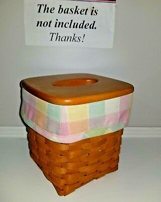 Tall Tissue Basket Liner from Longaberger Pastel Plaid. Think Easter!