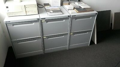 Filing Cabinet 2 drawer steel in good condition. Grey colour lockable.