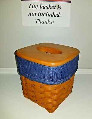 Tall Tissue Basket Liner from Longaberger brand medium blue fabric!