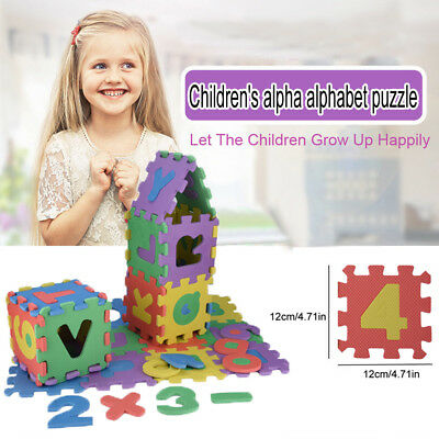 36Pcs Baby Children Number Alphabet Puzzle Foam Maths Educational Toy Gift US