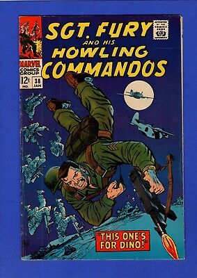 Sgt. Fury And His Howling Commandos #38 Vf+ High Grade Silver Age Marvel
