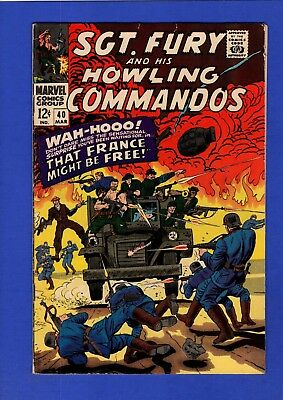 Sgt. Fury And His Howling Commandos #40 Fn Higher Grade Silver Age Marvel