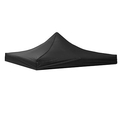 10x10ft EZ Pop Up Canopy Top Replacement Gazebo Sunshade Tent Oxford Cover Black