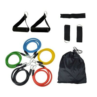 2X(RESISTANCE BANDS Set For Yoga Abs Pilates Fitness Exercise Workout 11 PiR3T3)