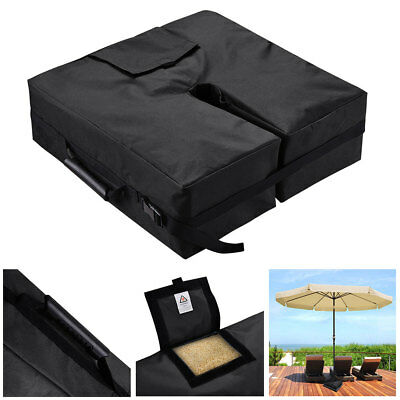"""18"""" Square Weight Sand Bag for Outdoor Umbrella Base Stand Patio Garden Black"""