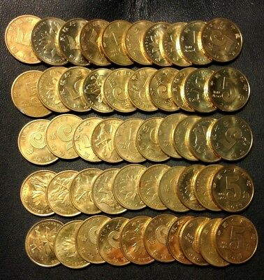 Old China Coin Lot - 5 JIAO - 50 EXCELLENT COINS - Mostly AU/UNC - Lot #J19