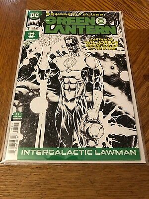 Green Lantern #1 Black and White Liam Sharp Variant