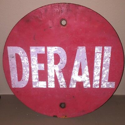 Red NOLAN Railroad Derail Sign Single Sided Reflective lettering SUPER UNIQUE