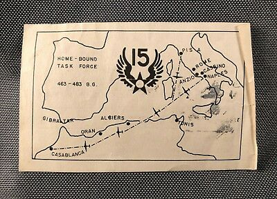 WW2 US Army USAAF 15th Air Force Short Snorter Club Certificate Flying Fortress