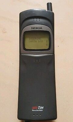 Nokia 8110 NHE-6BX - Black Cell Phone MATRIX MOVIE BANANA VERY RARE COLLECTIBLE