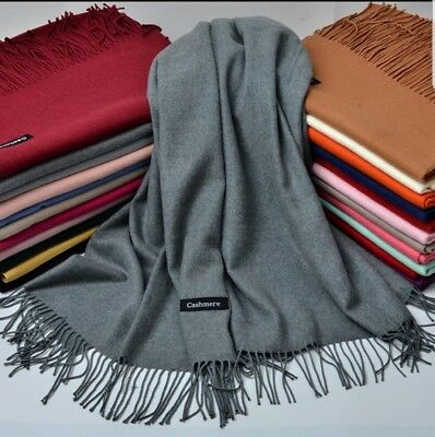 Premium Soft Pashmina Cashmere long and thick Scarf/Shawl