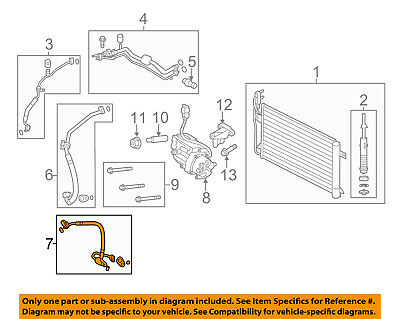 FORD OEM Air Conditioner-Discharge Hose AH6Z19D734A