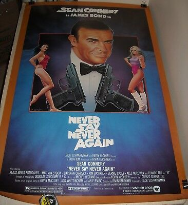 Rolled 1983 Sean Connery James Bond Never Say Never Again 1 Sheet Movie Poster