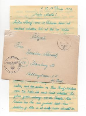 1944 SS Panzer, France to Germany - Feldpost, letter