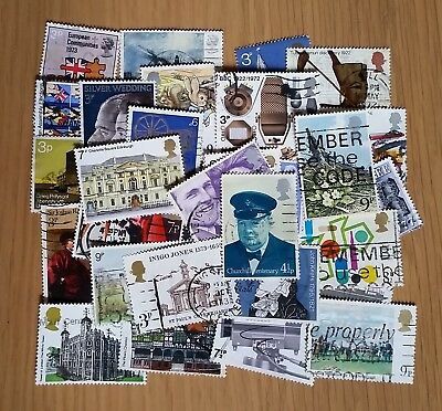 40 all different used GB commemorative stamps (<9p face value)