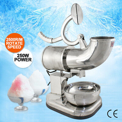 250w 110v Stainless Steel Electric Ice Crusher Snow Cone Maker Shaver
