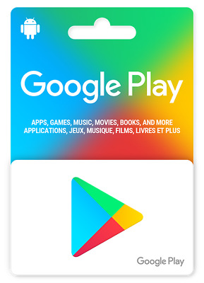 Google Play 10 US Dollar Android Store Prepaid Code Key $10 USD - USA Region