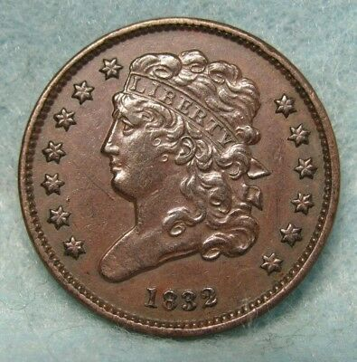 1832 CLASSIC HEAD HALF CENT CHOICE XF * US Coin
