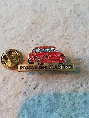 Pin's Pins Rallye des Flandres voiture de course cars racing n° 6