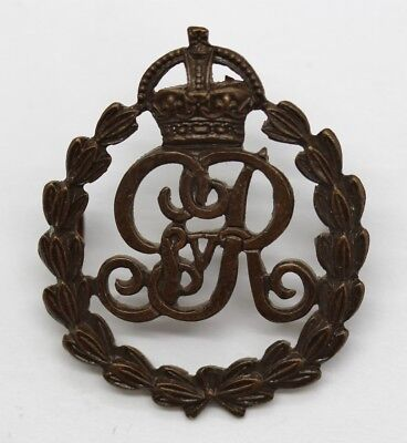 George V Military Provost Staff Corps Officer's Service Dress Cap Badge #43