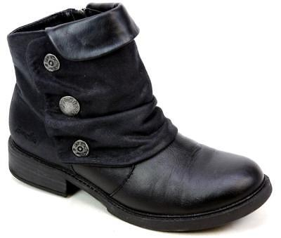 Womens Blowfish Vynn Black Leather Look Smart Work Autumn Ankle Boots Size Uk 6