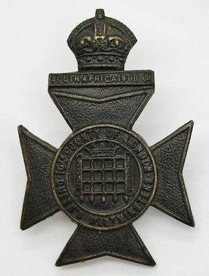 16th County of London Bn (Queen's Westminster Rifles) London Regt Cap Badge #45
