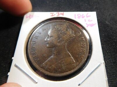 I34 Hong Kong 1866 Cent XF