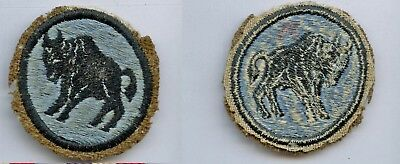 Post-WWI WW1 92nd Division Infantry Patch RARE Buffalo Soldiers SSI Blanket Wool