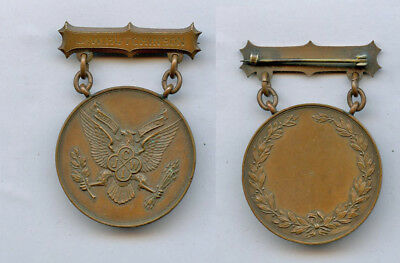 WWI WW1 UNKNOWN Medal Named US Eagle ACHIEVEMENT Perhaps?  Bronze NICE
