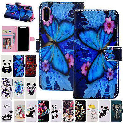 For iPhone 7 7 Plus Wallet Case Cute Cartoon Leather Flip Magnetic Stand Cover