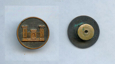 WWI WW1 AEF Collar Disc Lots- Engineer Castle CLEAN with Nut COMPLETE