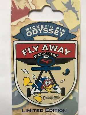 Disney Parks DCA Disneyland Odyssey Donald Duck Fly Away Decal Collection LE Pin
