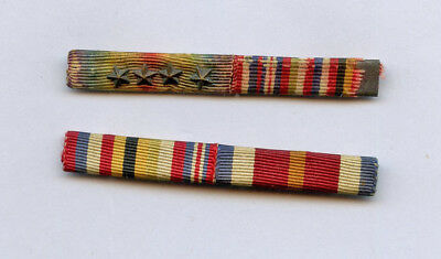 WWI WW1 AEF Medal Ribbon Bar Lot VICTORY w/ 4 Stars, Inter-allied, & One Other