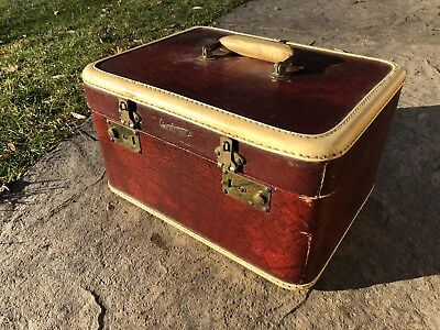 Vintage Red Airplane Suitcase By H&M St Louis
