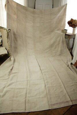 "Antique Cart Cover heavy linen sofa cover or slip cover HUGE 160"" X 96"", 18 lbs"
