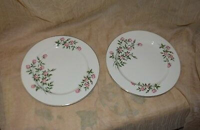 """Sset Of 2 Vintage Knowles Sweetheart Rose Dinner Plates 10"""" H4051"""