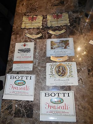 (VTG) 1960s GERMANY & FRANCE MIX LOT OF 21 LABELS UNUSED IMPORTED WINE