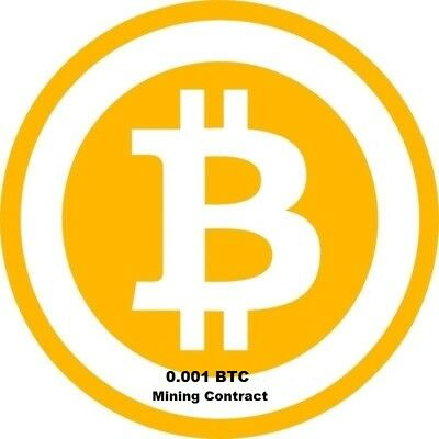 Bitcoin 24 Hr Mining-Contract 0.001 BTC High processing speed