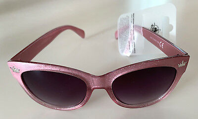 Disney Parks Pink Glitter Princess Crown Icon Adult Size Sunglasses NEW