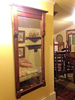 Antique Hanging Walnut Eastlake Mirror ~ Hall Mirror  7753