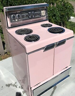 Vintage 1956 Frigidaire Imperial Stove Pink Mid Century