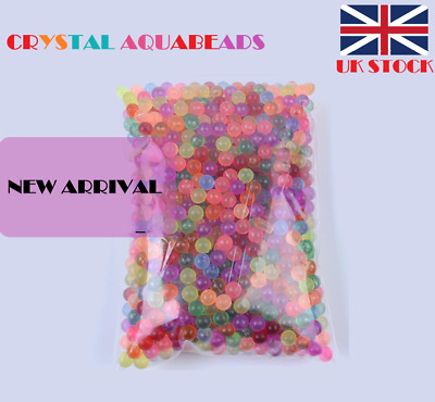 NEW 200-6000pcs CRYSTAL Aquabeads Refill Pack in 10 HOT Colors-Mixed Packing