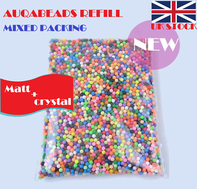 NEW 200-6000pcs Aquabeads Refill in 36 HOT Matt/Crystal Colors Mixed Packing